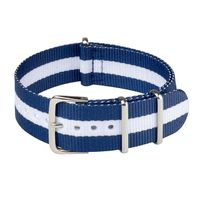NATO Strap Navy Blue & White