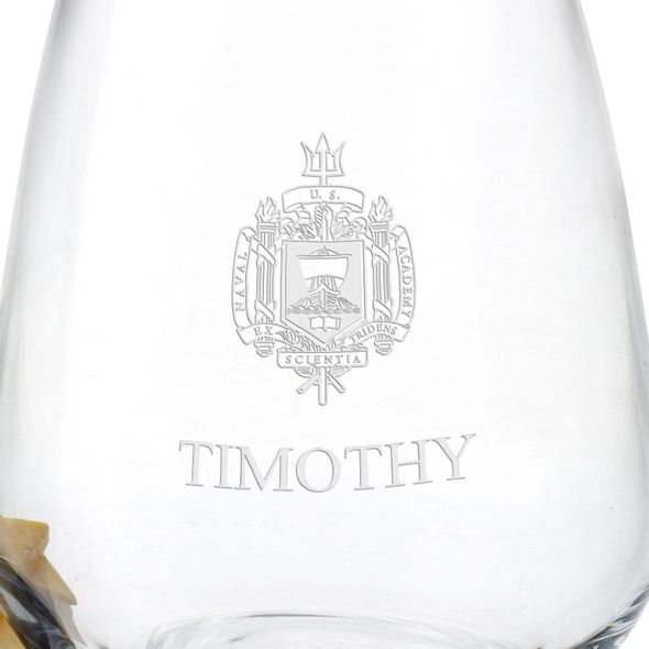 US Naval Academy Stemless Wine Glasses - Set of 4 - Image 3