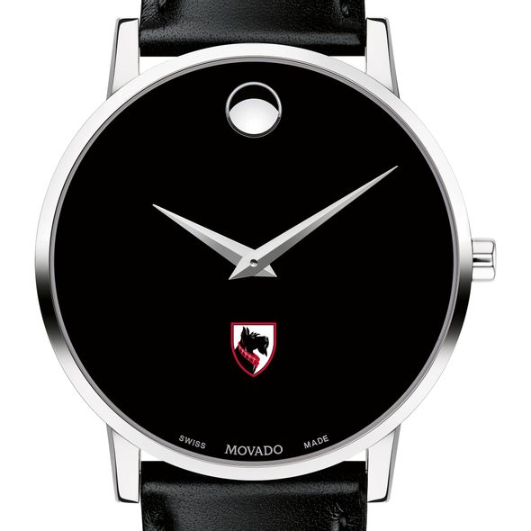 Carnegie Mellon University Men's Movado Museum with Leather Strap