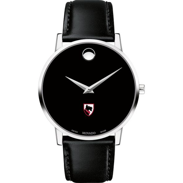 Carnegie Mellon University Men's Movado Museum with Leather Strap - Image 2