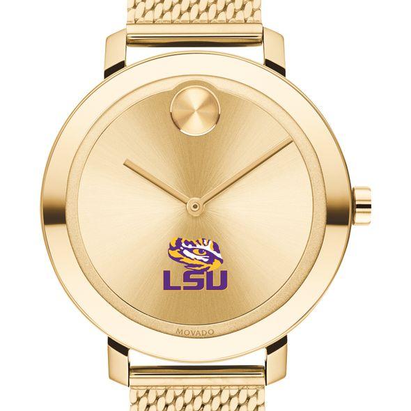 LSU Women's Movado Bold Gold with Mesh Bracelet - Image 1