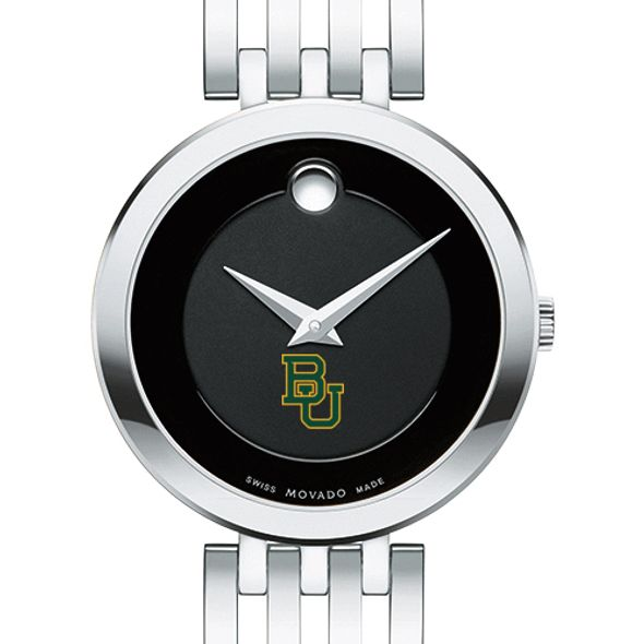 Baylor University Women's Movado Esparanza Stainless Steel Museum with Bracelet - Image 1