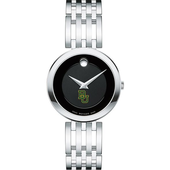 Baylor University Women's Movado Esparanza Stainless Steel Museum with Bracelet - Image 2