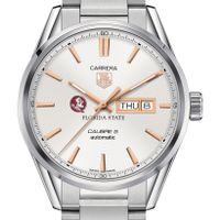 Florida State University Men's TAG Heuer Day/Date Carrera with Silver Dial & Bracelet