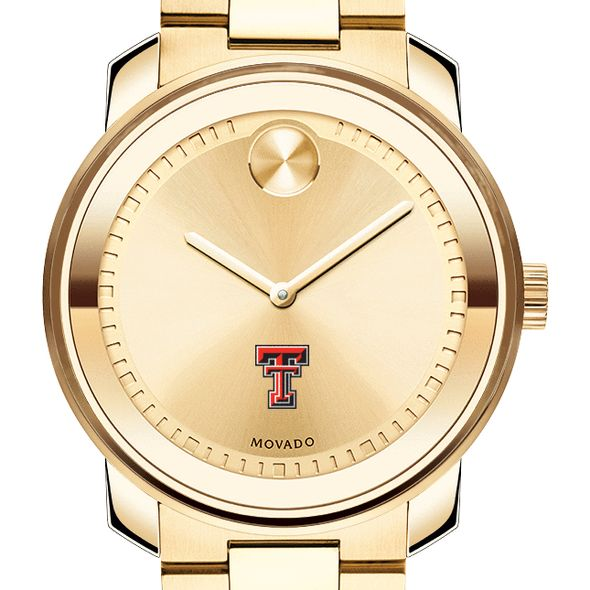 Texas Tech Men's Movado Gold Bold
