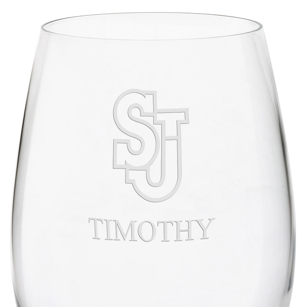 St. John's University Red Wine Glasses - Set of 2 - Image 3