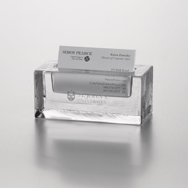 St. John's Glass Business Cardholder by Simon Pearce - Image 1