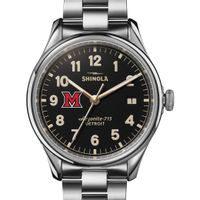 Miami University Shinola Watch, The Vinton 38mm Black Dial