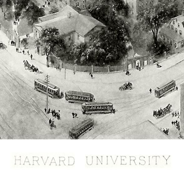 Historic Harvard University Black and White Print - Image 2