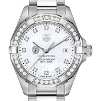 Georgetown University W's TAG Heuer Steel Aquaracer with MOP Dia Dial & Bezel