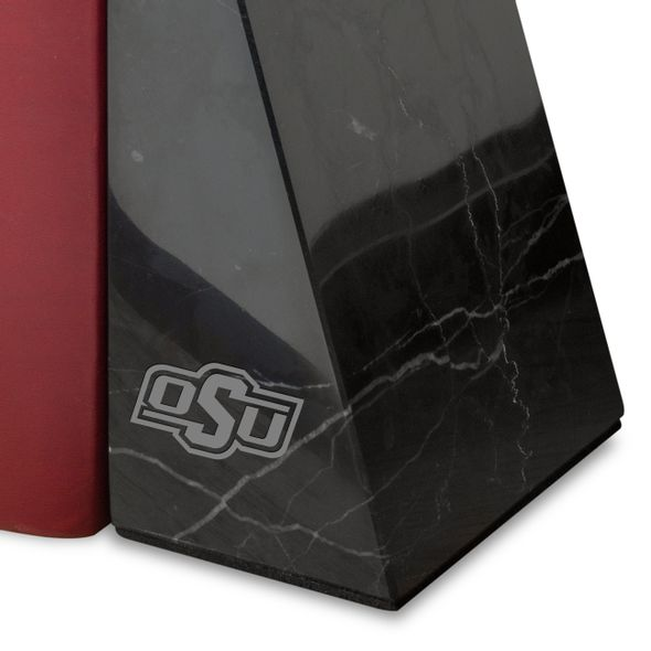 Oklahoma State University Marble Bookends by M.LaHart - Image 2