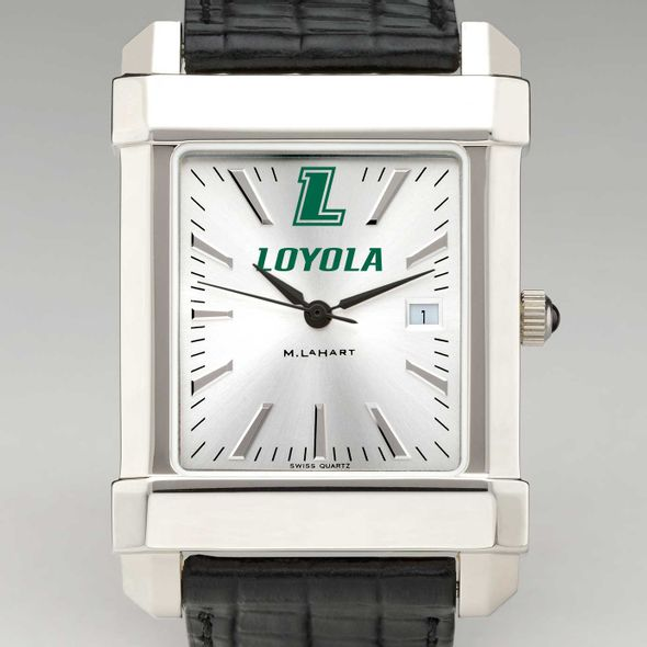 Loyola Men's Collegiate Watch with Leather Strap - Image 1