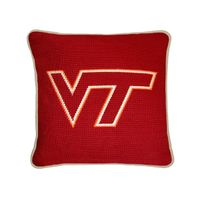 Virginia Tech Handstitched Pillow