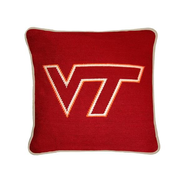 Virginia Tech Handstitched Pillow