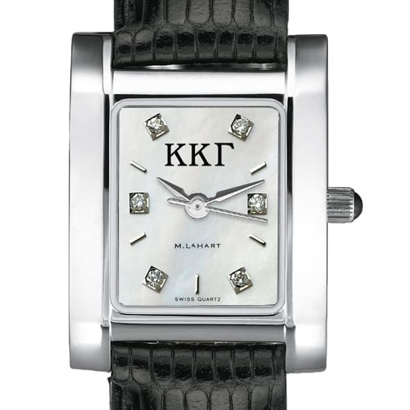 KKG Women's Mother of Pearl Quad Watch with Diamonds & Leather Strap - Image 2