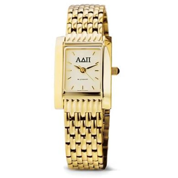 ADPi Women's Gold Quad Watch with Bracelet - Image 1