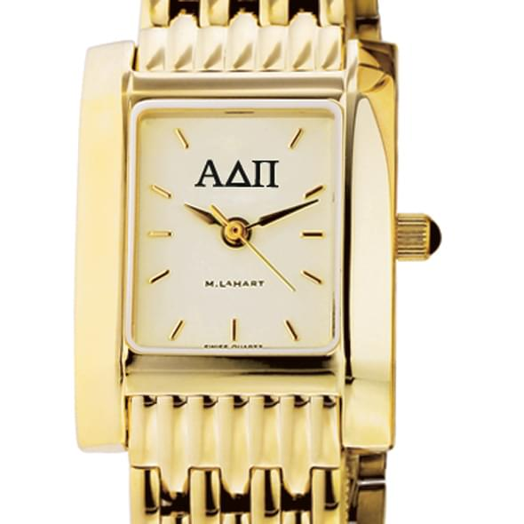 ADPi Women's Gold Quad Watch with Bracelet - Image 2