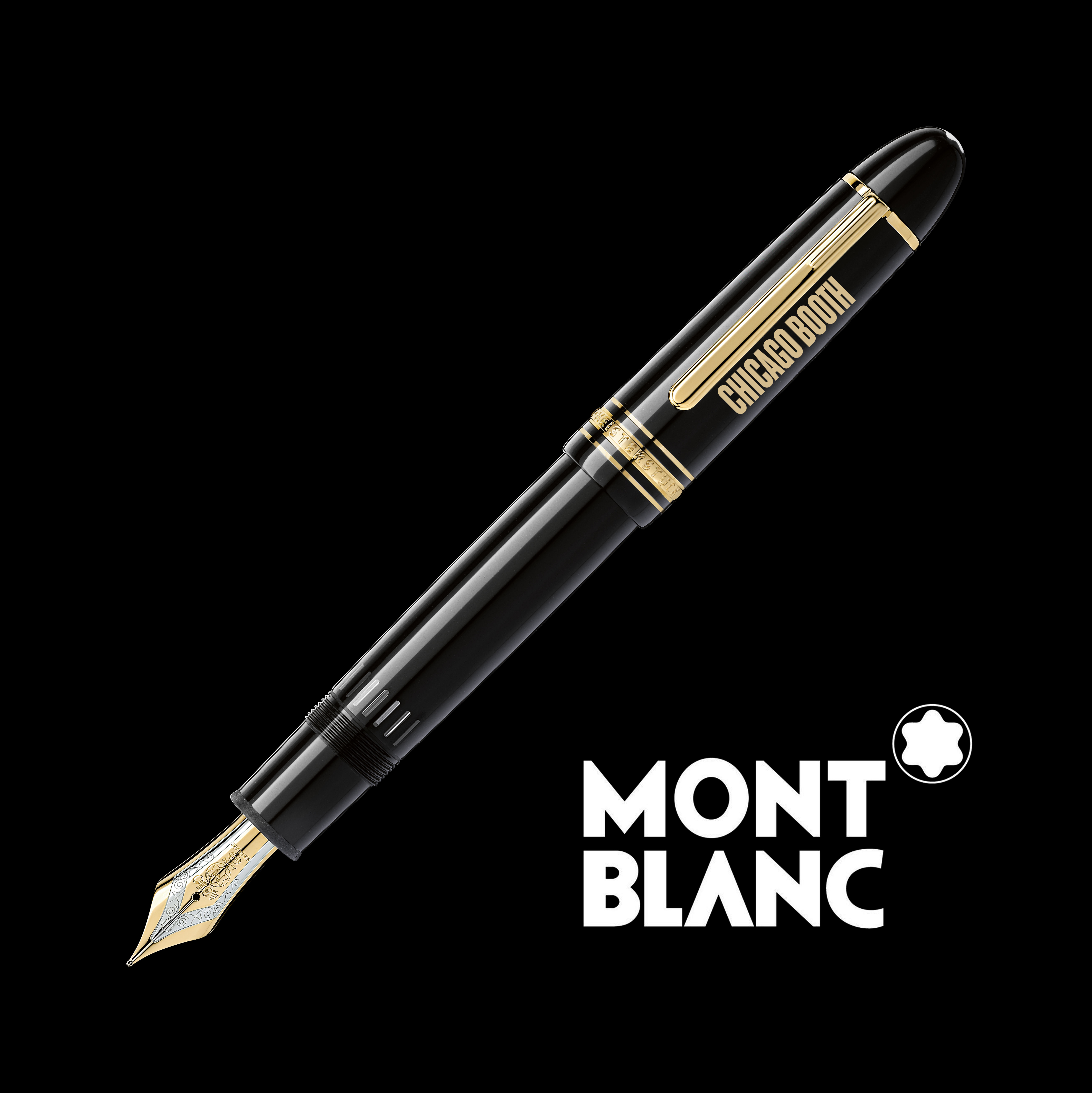 Chicago Booth Montblanc Meisterstück 149 Fountain Pen in Gold