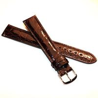 Men's Brown Crocodile Strap with Silver Buckle for Quad Watches