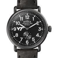 Virginia Tech Shinola Watch, The Runwell 41mm Black Dial
