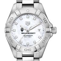 Indiana Women's TAG Heuer Steel Aquaracer with MOP Diamond Dial