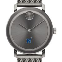 US Naval Academy Men's Movado BOLD Gunmetal Grey with Mesh Bracelet