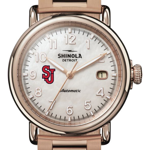 St. John's Shinola Watch, The Runwell Automatic 39.5mm MOP Dial - Image 1
