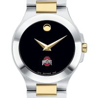 Ohio State Women's Movado Collection Two-Tone Watch with Black Dial