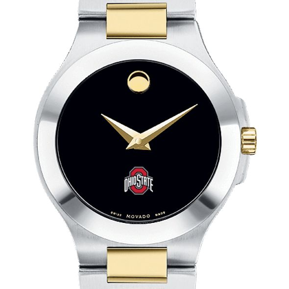 Ohio State Women's Movado Collection Two-Tone Watch with Black Dial - Image 1