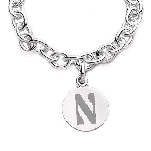 Northwestern Sterling Silver Charm Bracelet - Image 2