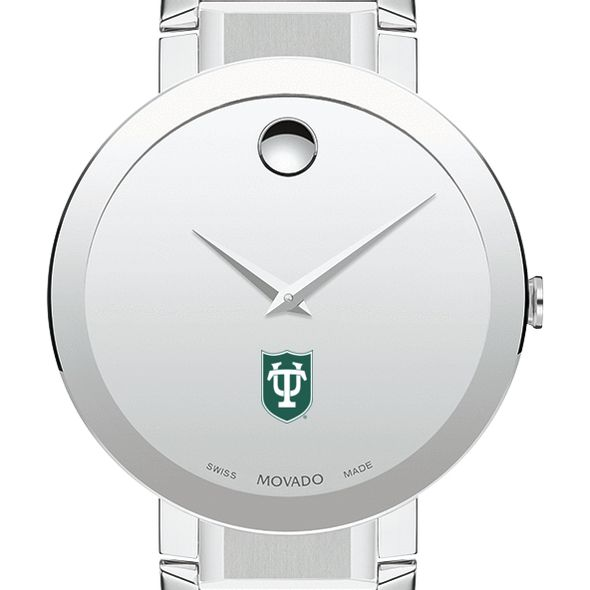 Tulane University Men's Movado Sapphire Museum with Bracelet