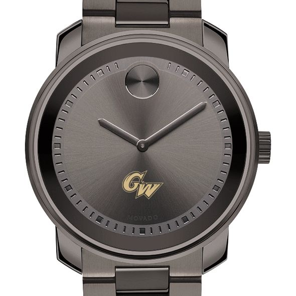 George Washington University Men's Movado BOLD Gunmetal Grey