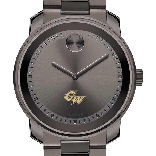 George Washington Men's Movado BOLD Gunmetal Grey