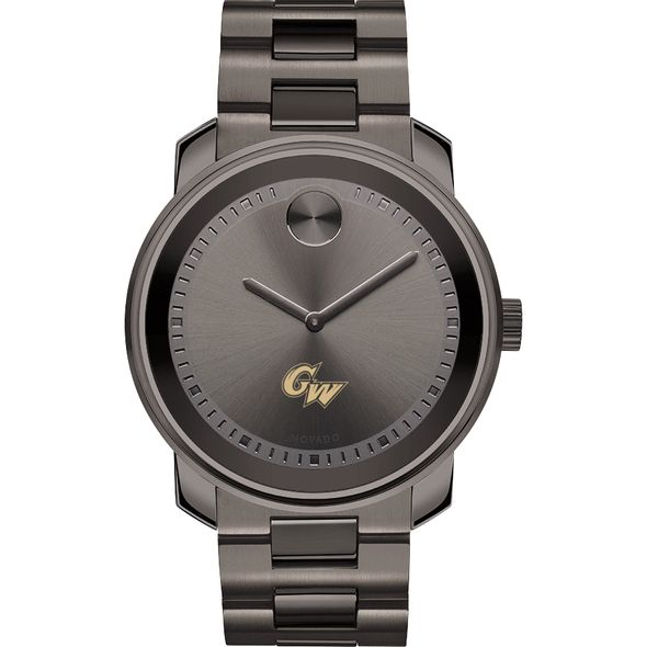 George Washington University Men's Movado BOLD Gunmetal Grey - Image 2