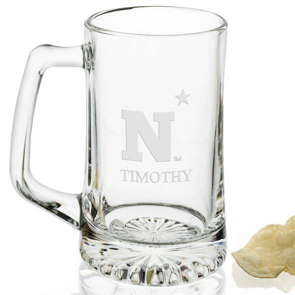 USNA Glass Stein - Image 2