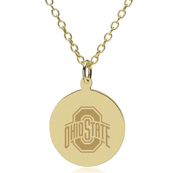 Ohio State 18K Gold Pendant & Chain - Image 1