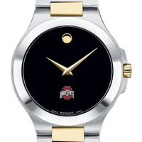 Ohio State Men's Movado Collection Two-Tone Watch with Black Dial