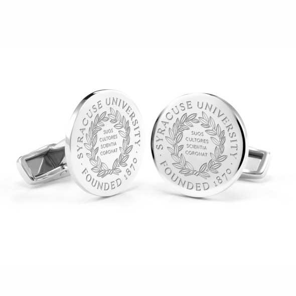 Syracuse University Cufflinks in Sterling Silver