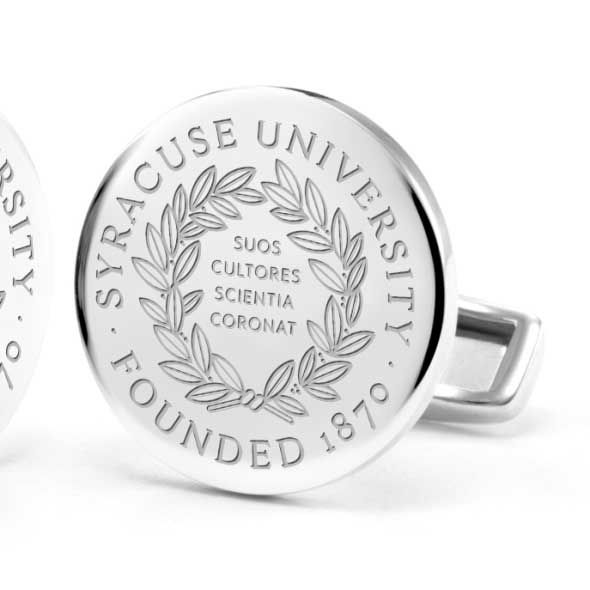 Syracuse University Cufflinks in Sterling Silver - Image 2