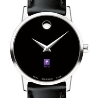 NYU Women's Movado Museum with Leather Strap