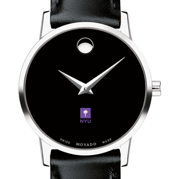 New York University Women's Movado Museum with Leather Strap
