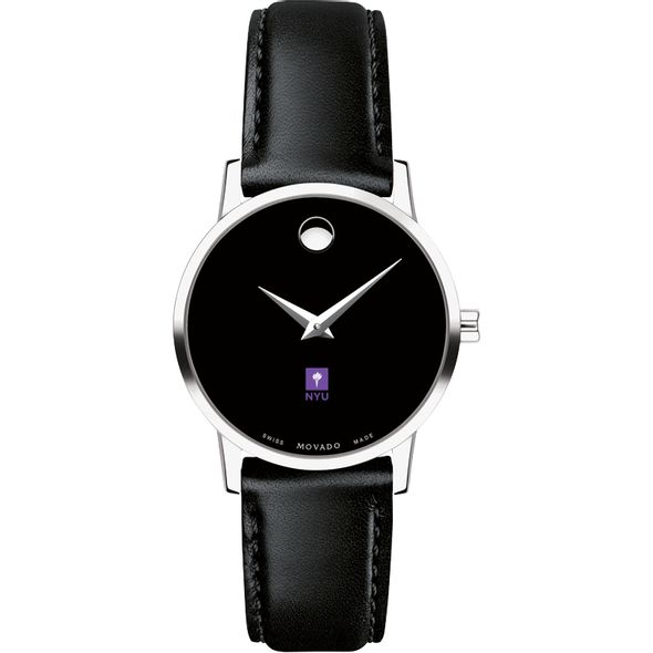 New York University Women's Movado Museum with Leather Strap - Image 2