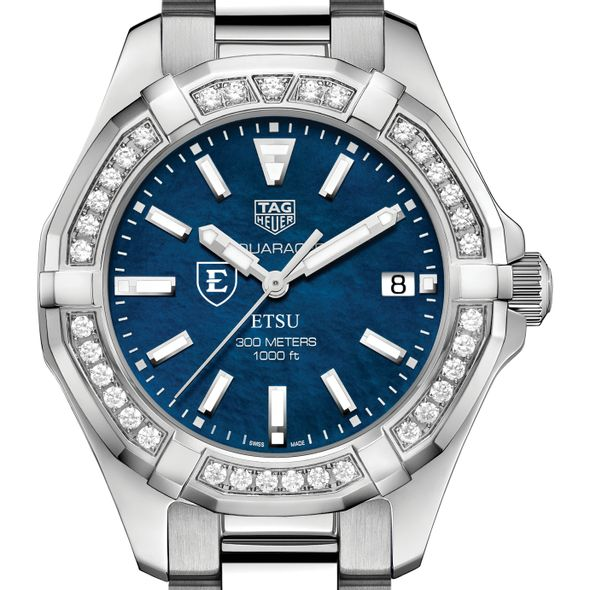 East Tennessee State Women's TAG Heuer 35mm Steel Aquaracer with Blue Dial