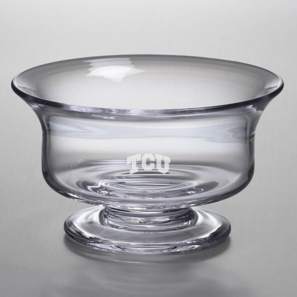 TCU Medium Glass Revere Bowl by Simon Pearce