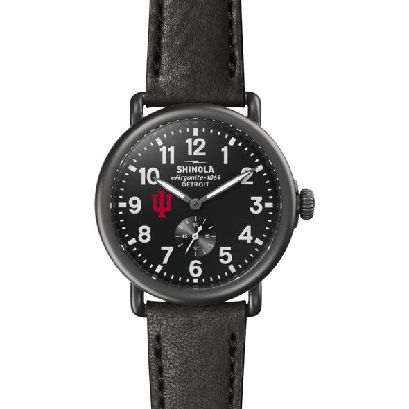 Indiana Shinola Watch, The Runwell 41mm Black Dial - Image 2