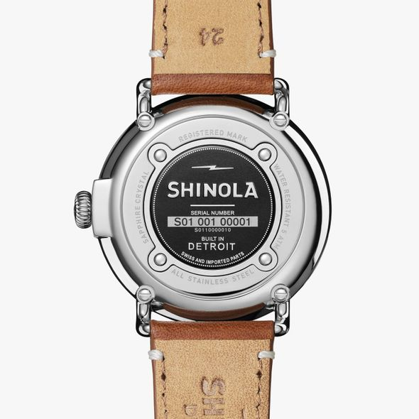 Indiana Shinola Watch, The Runwell 41mm Black Dial - Image 3