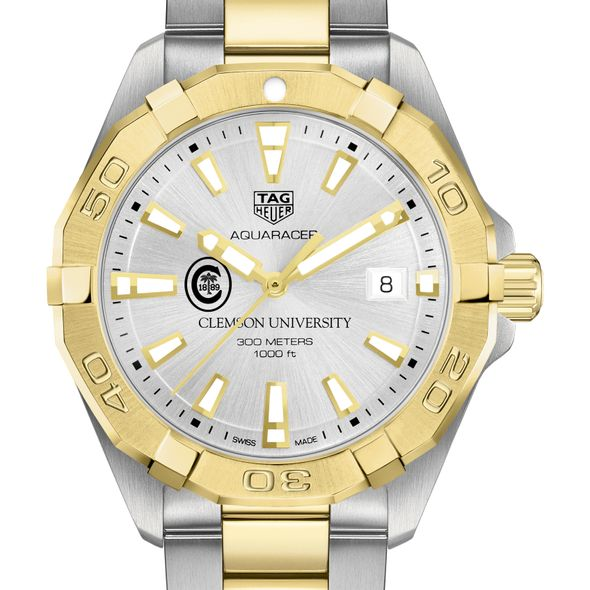 Clemson Men's TAG Heuer Two-Tone Aquaracer