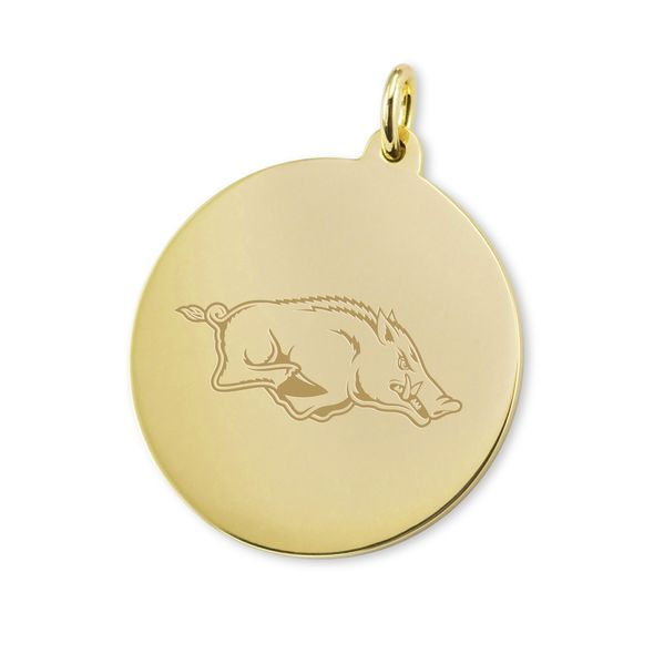 University of Arkansas 18K Gold Charm