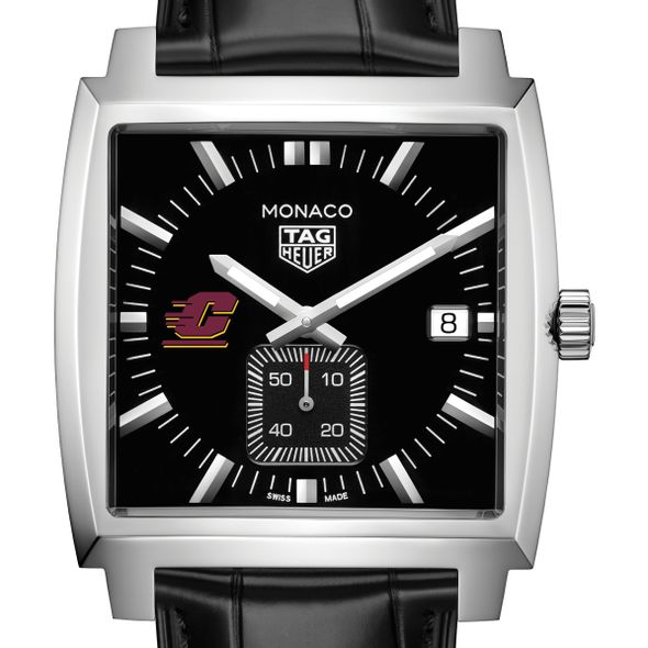 Central Michigan TAG Heuer Monaco with Quartz Movement for Men