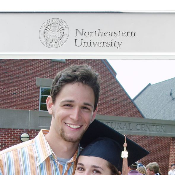 Northeastern Polished Pewter 5x7 Picture Frame - Image 2